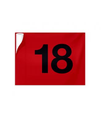 Fanion tubulaire Uni - Numéro 10 à 18